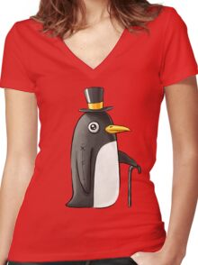 Penguin Women's Fitted V-Neck T-Shirt