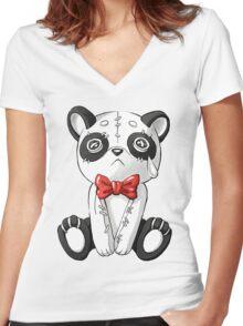 Panda Doll Women's Fitted V-Neck T-Shirt