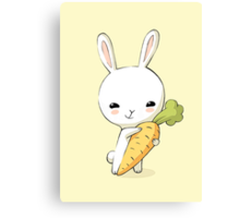 Bunny Carrot 2 Canvas Print