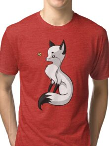 Fox and a Butterfly Tri-blend T-Shirt