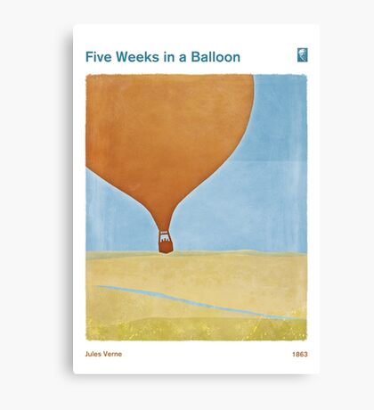 Five Weeks in a Balloon - Jules Verne Canvas Print