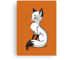 Fox and a Butterfly Canvas Print