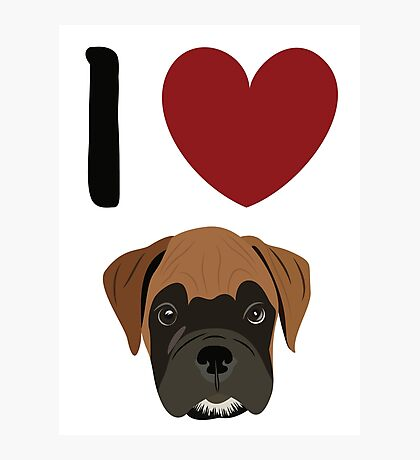I Heart Boxers Photographic Print