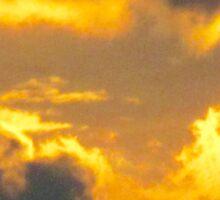 Golden Clouds Sticker