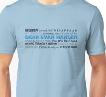 Dear Evan Hansen Soundtrack Unisex T-Shirt