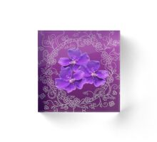 violets into the doodle frame Acrylic Block