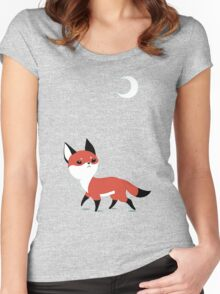 Moon Fox Women's Fitted Scoop T-Shirt