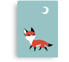 Moon Fox Canvas Print