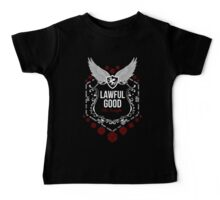 Lawful Good - White: Alignment Series Baby Tee