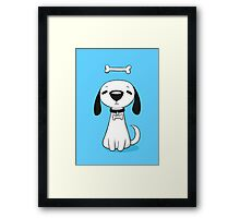 Puppy Bone Framed Print