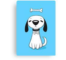 Puppy Bone Canvas Print