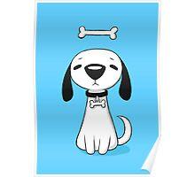 Puppy Bone Poster
