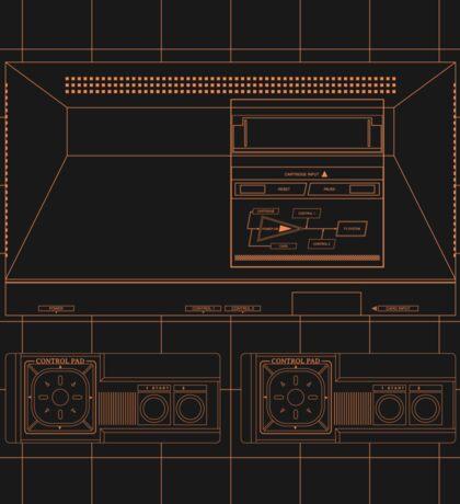 Master System outlines single (black) Sticker