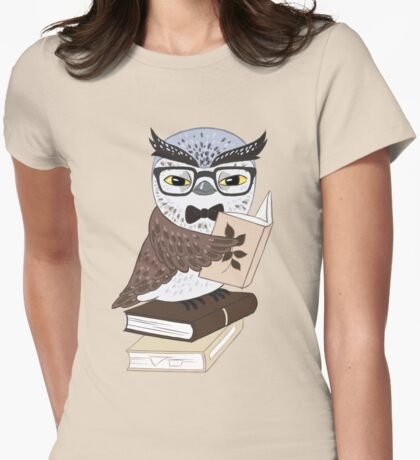 Professor Owl Womens Fitted T-Shirt