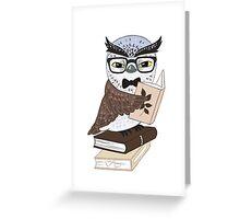 Professor Owl Greeting Card