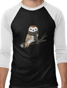 Winter Owl Men's Baseball ¾ T-Shirt
