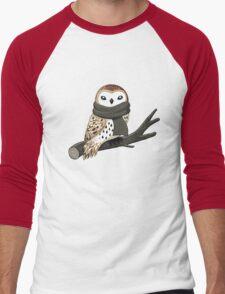 Winter Owl Men's Baseball ¾ T-Shirt