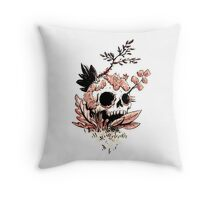 Skull Growth Throw Pillow