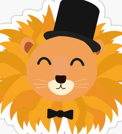 Lion head with cylinder Sticker