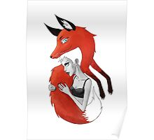 Girl and a Fox Poster
