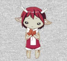Deer Girl One Piece - Long Sleeve