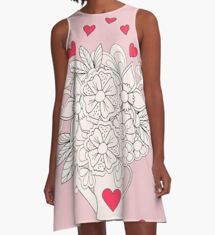 bouquet with love A-Line Dress
