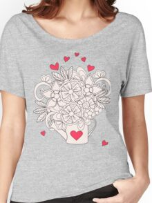 bouquet with love T-shirt femme coupe relax