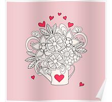 bouquet with love Poster