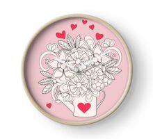 bouquet with love Clock