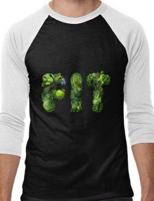 Vegetables Spelling Fit Men's Baseball ¾ T-Shirt