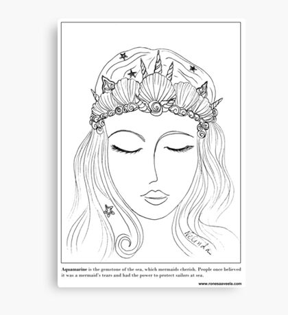 #Mermaid Crown Canvas Print