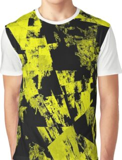 Fractured Yellow Graphic T-Shirt