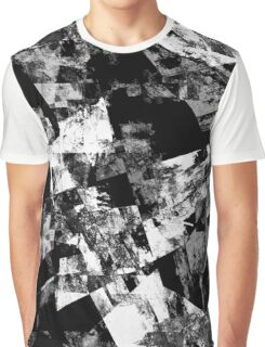 Fractured Black And White Graphic T-Shirt