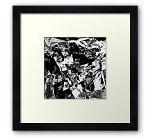 Fractured Black And White Framed Print