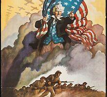 BUY WAR BONDS - Classic World War 2 Propaganda Poster by verypeculiar