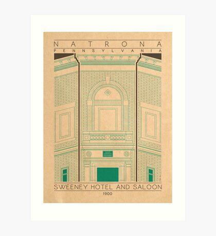 Sweeney Hotel and Saloon - 1900 (Green) Art Print