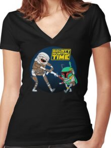 Bounty Hunting Time Women's Fitted V-Neck T-Shirt