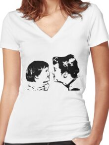 Carrie Fisher & Debbie Reynolds Women's Fitted V-Neck T-Shirt