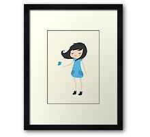 Girl and a Butterfly 2 Framed Print