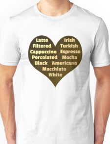 Love for Coffee Unisex T-Shirt