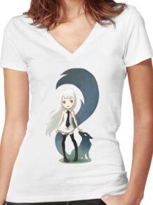 Fox Daemon Women's Fitted V-Neck T-Shirt