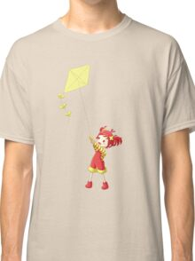 Girl with Kite Classic T-Shirt