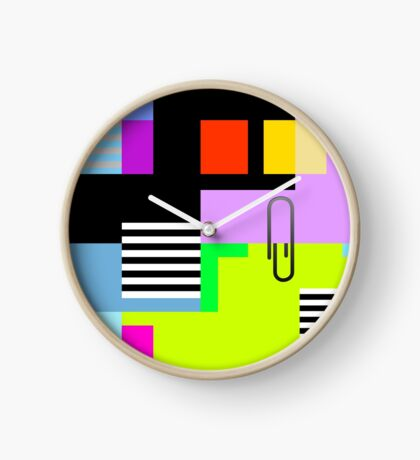 Tidy Office Abstract Clock