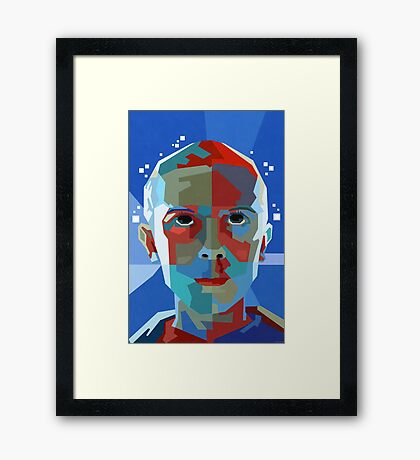 Stranger Things Eleven WPAP Framed Print
