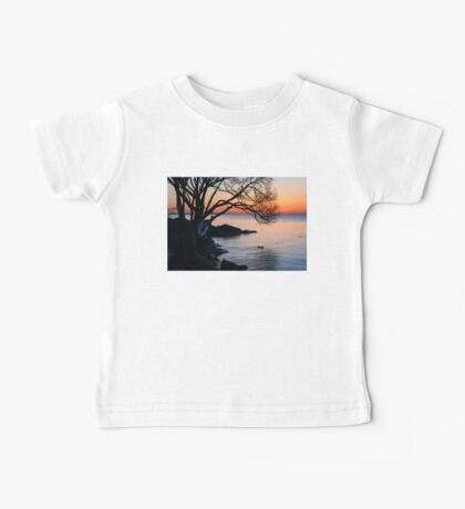Just Before Sunrise - Bright Cold and Colorful on the Lakeshore Baby Tee