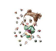 Sushi Girl Photographic Print