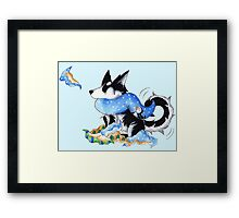 Wrapping Paper Pup Framed Print