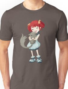 Girl and a Cat Unisex T-Shirt