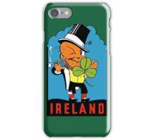 Ireland Leprechaun Irish Vintage Travel Decal iPhone Case/Skin