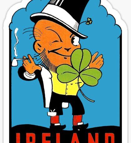 Ireland Leprechaun Irish Vintage Travel Decal Sticker